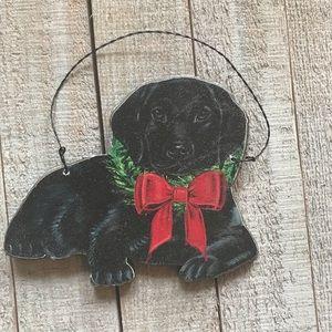 Primitives By Kathy Black Lab Christmas Ornament